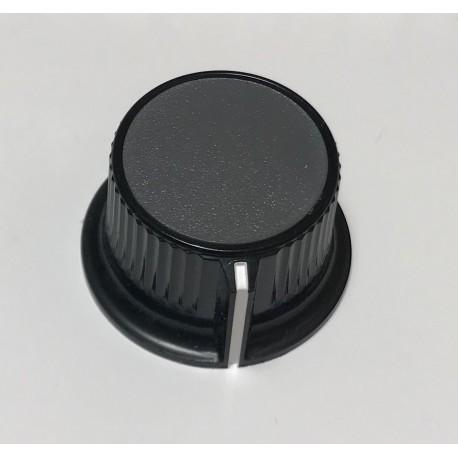 Botón gris para potenciómetro
