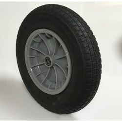 Rueda 350.8 C/R bolas nylon gris deli CA