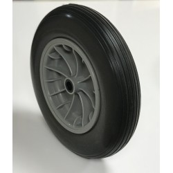Rueda 350.8 C/R agu. nylon impinchable gris