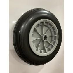Rueda 350.8 C/R bolas nylon gris impch PU CA