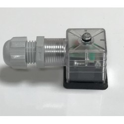 Conector bobina solenoide con Diodo