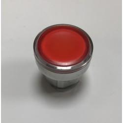 Pulsador botón rojo led con enclavamiento
