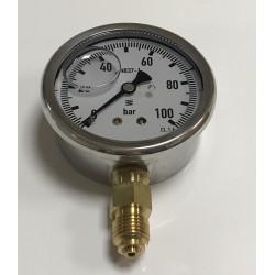 Manómetro glicerina inox 0-100 1/4